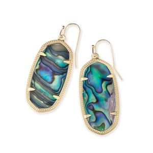Abalone Elle Earrings. Kendra Scott